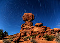 Star Trail, balanced rock, Arches National Park
