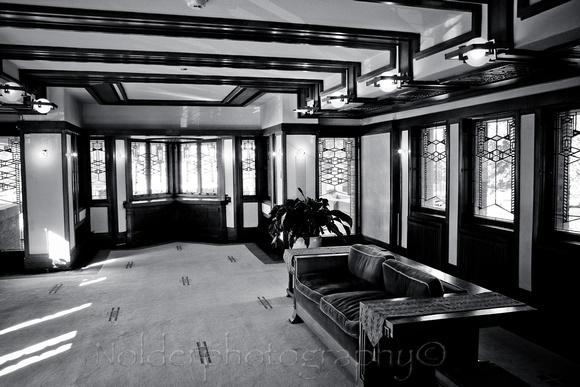 nolderphotography frank lloyd wright robie house interior detail. Black Bedroom Furniture Sets. Home Design Ideas